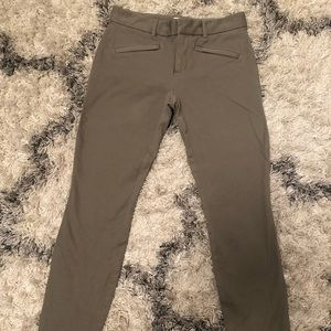 Gap skinny ankle pants, Olive, Size 0